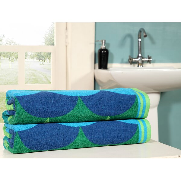 Garrido Jacquard 100% Cotton Beach Towel (Set of 2) by Highland Dunes